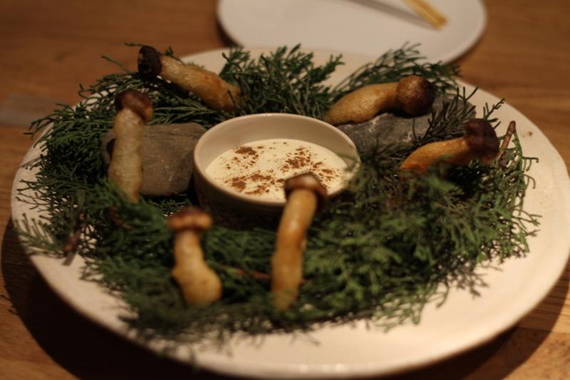 tempura di funghi, Pakta, chef Albert Adrià, Barcellona