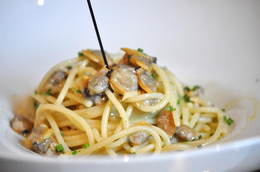 primo piatto, spaghetto con vongole, Il Ridotto, Chef Ivano Mestriner, Venezia