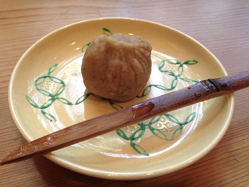 dessert, pasta azuki, Soba Ryuheisoba, Kyoto, Giappone