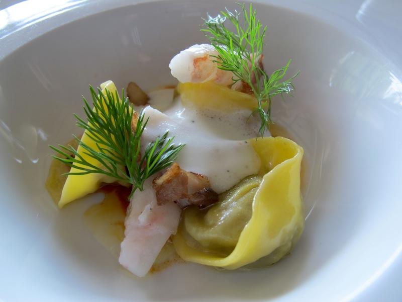 tortelli ripieni di melanzana, Spinechile Resort, Chef Corrado Fasolato, Schio
