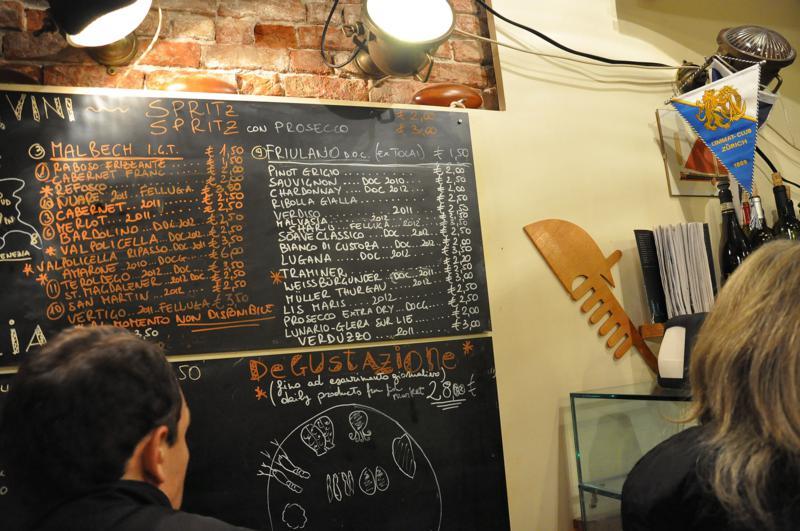 lavagna, Osteria alla ciurma wine Bar, bacari, Venezia