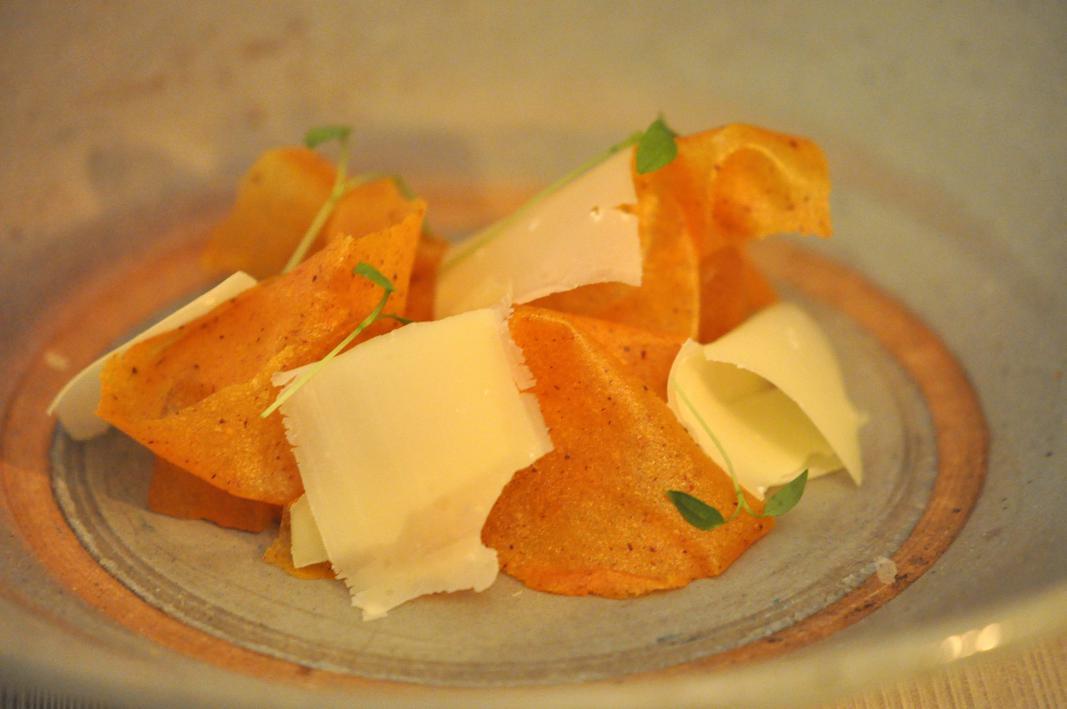 caco, coriandolo e formaggio, El Coq, Chef Lorenzo Cogo, Marano Vicentino