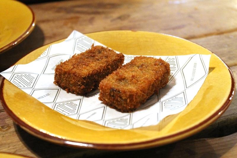 crocchetta di coda di bue, Suculent, Chef Antonio Romero, Barcelona