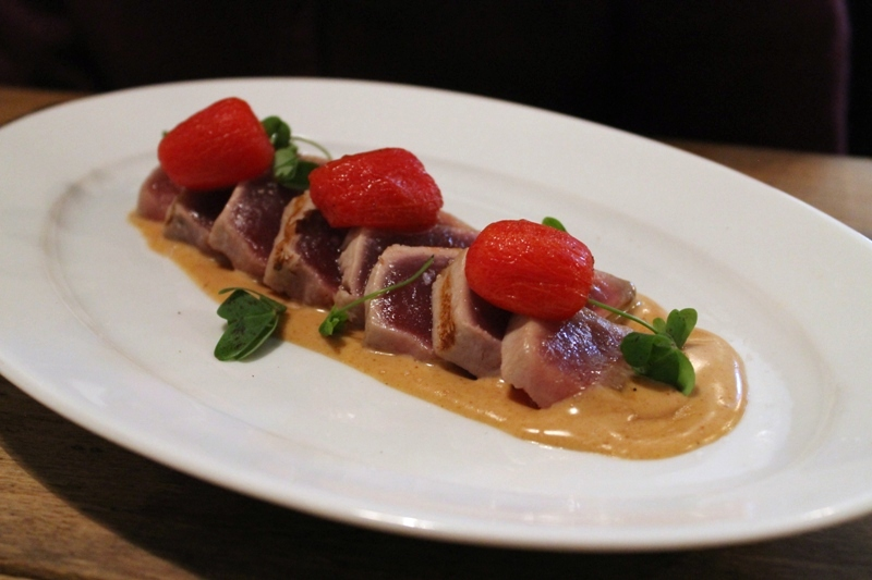 tonno scottato, Suculent, Chef Antonio Romero, Barcelona