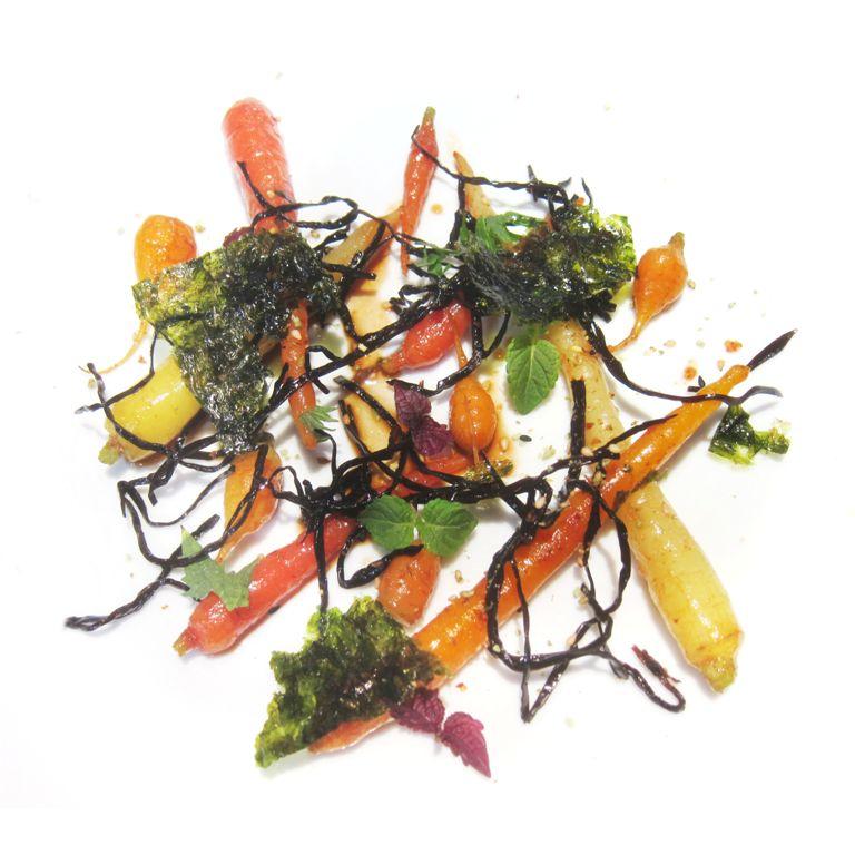 Prima della Prima, Chef Enrico Crippa , carote, alghe,sesamo