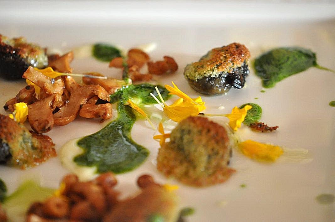 lumache gratinate con erbe, Dolada, Chef Riccardo De Prà, Plois, Belluno