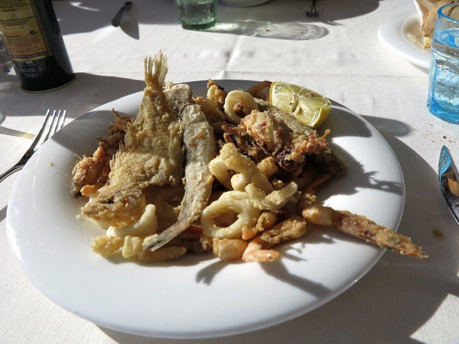 frittura di paranza, Trattoria da Carmelo, Marina di Ragusa, Sicilia