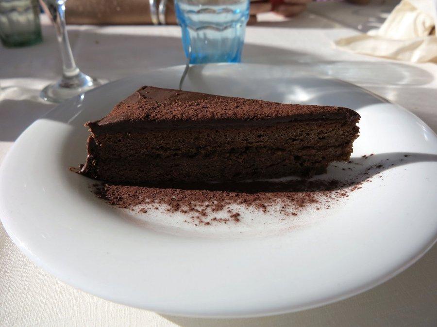 sacher torte, Trattoria da Carmelo, Marina di Ragusa, Sicilia