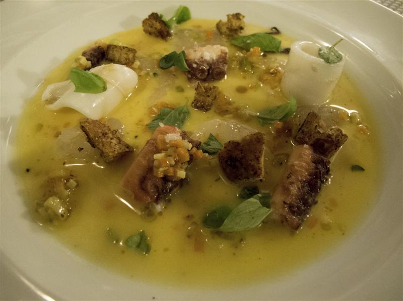 ceviche di pesce, Al Giardino degli Indoratori, chef Badaracco, Genova