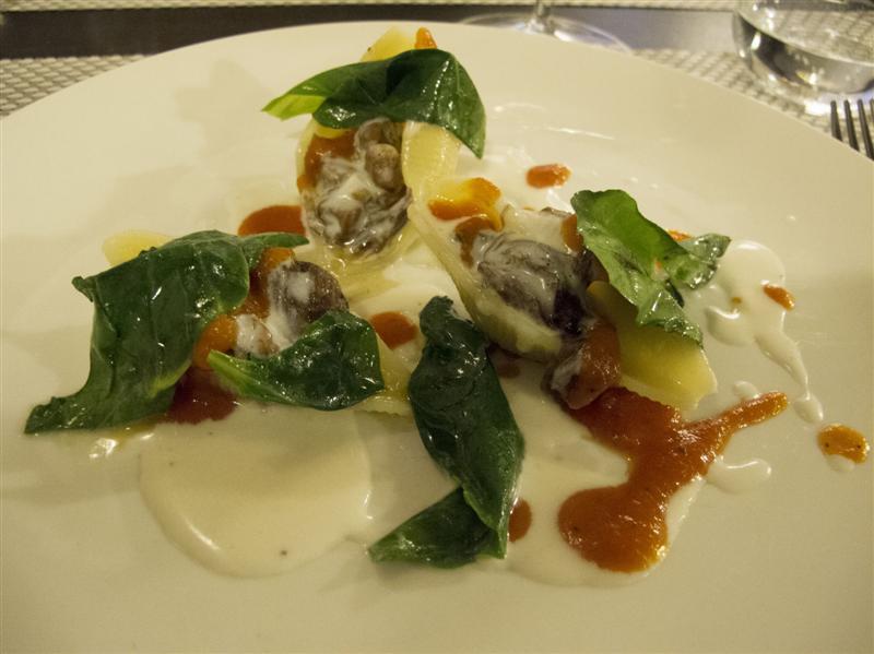 conchiglioni, ripieni di carne, Al Giardino degli Indoratori, chef Badaracco, Genova