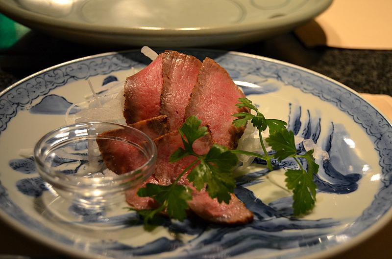 roastbeef, Wakkoqu, chef Kensuke Sakata, Kobe, Japan