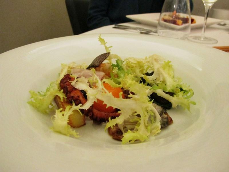 mare e terra in insalata, L'Arcade, Chef Nikita Sergeev, Porto San Giorgio, Fermo