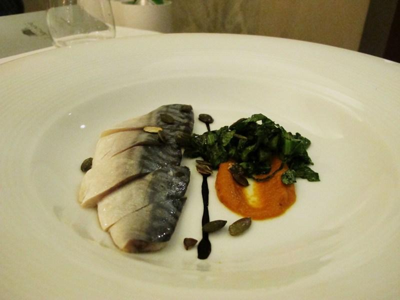 sgombro marinato, L'Arcade, Chef Nikita Sergeev, Porto San Giorgio, Fermo
