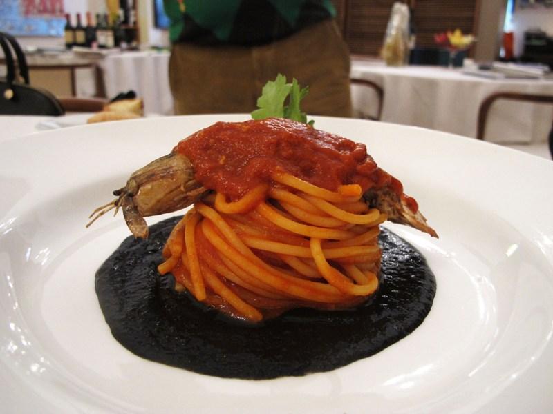 spaghetto doppio, Bacco, chef Angela Campana, Bari