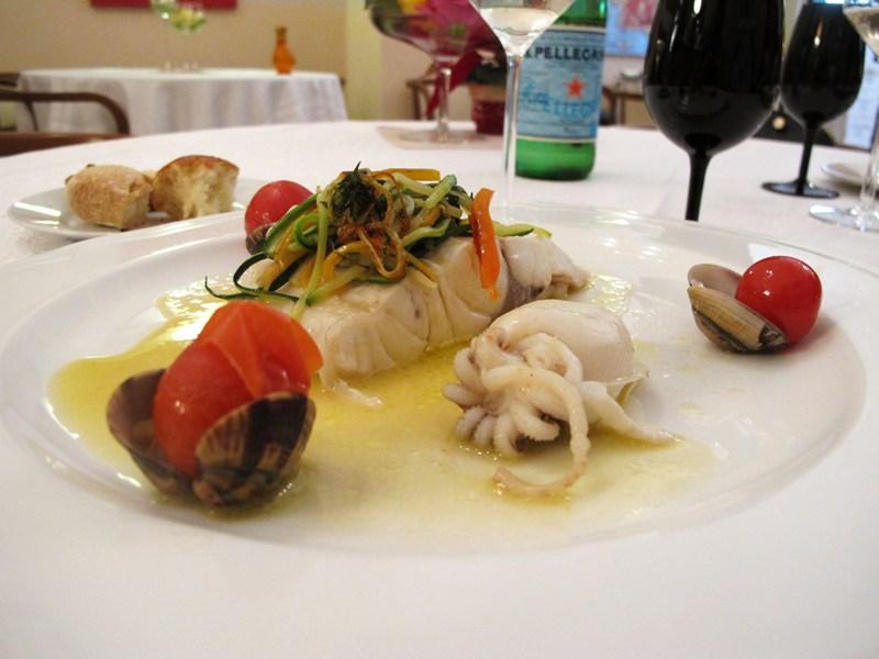 guazzetto di vongole e seppiolina, Bacco, chef Angela Campana, Bari
