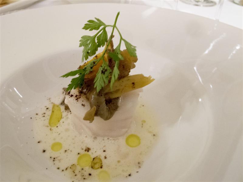 capasanta rosticciata, Locanda dell'Angelo, Chef Torterolo, Millesimo, Savona