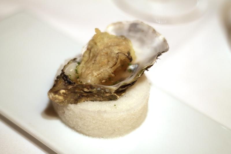 Ostrica in tempura, Osteria della Brughiera, Chef Benigni, Villa D'Almé, Bergamo
