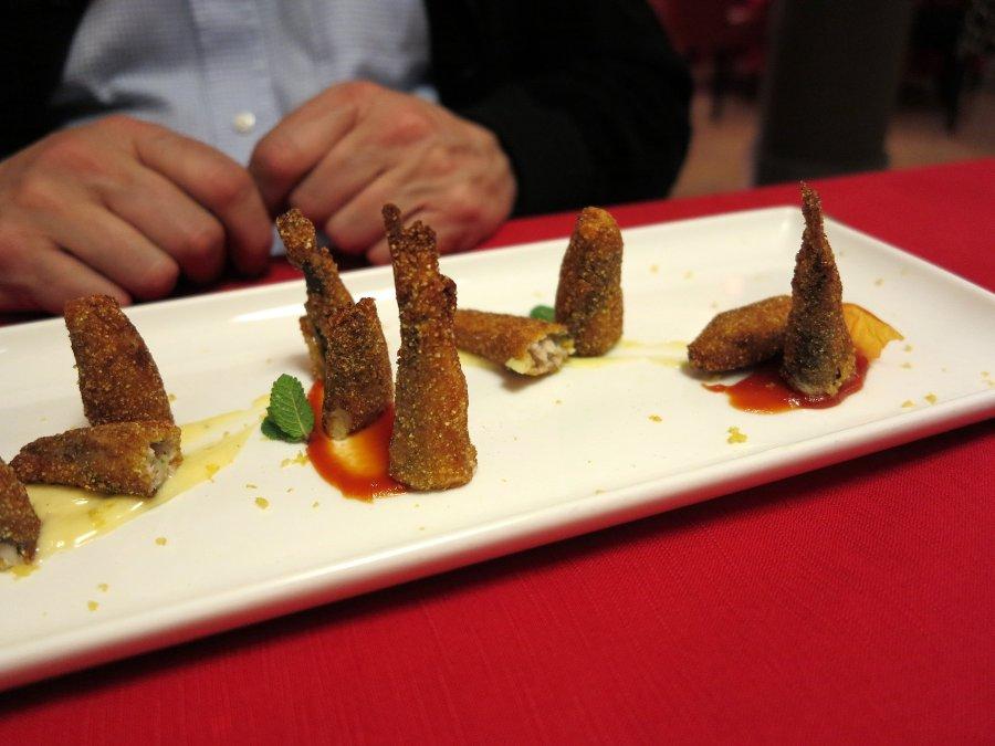 sardina croccante, Locanda Gulfi, Chef Causarano, Chiaramonte Gulfi