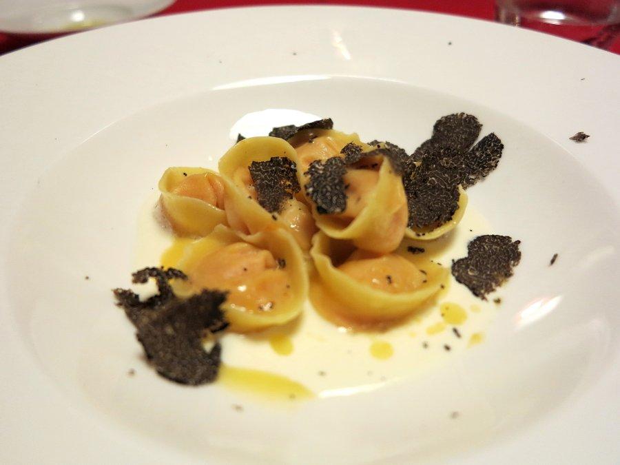 tortelli di zucca, Locanda Gulfi, Chef Causarano, Chiaramonte Gulfi