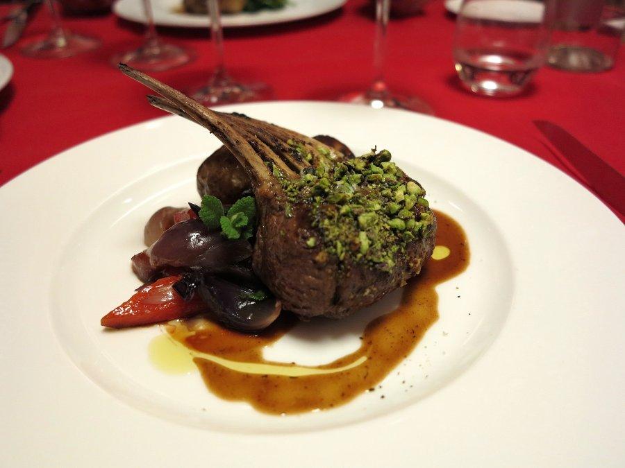 carrè e lombatina di agnello, Locanda Gulfi, Chef Causarano, Chiaramonte Gulfi