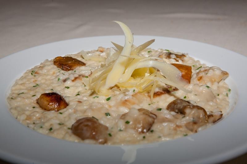 riso mantecato, funghi porcini, Manna, Chef Matteo Fronduti, Milano