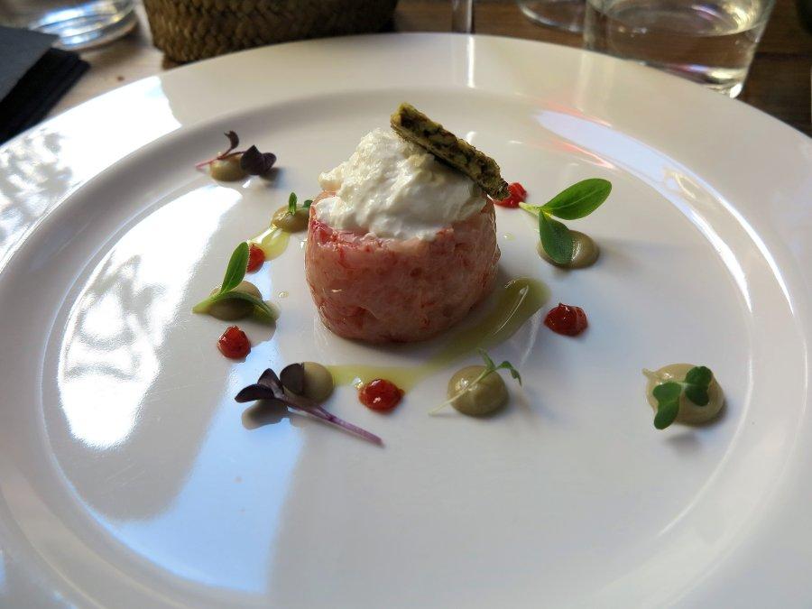 battuta di gambero rosso, Marzapane, Chef Alba esteve Ruiz, Roma
