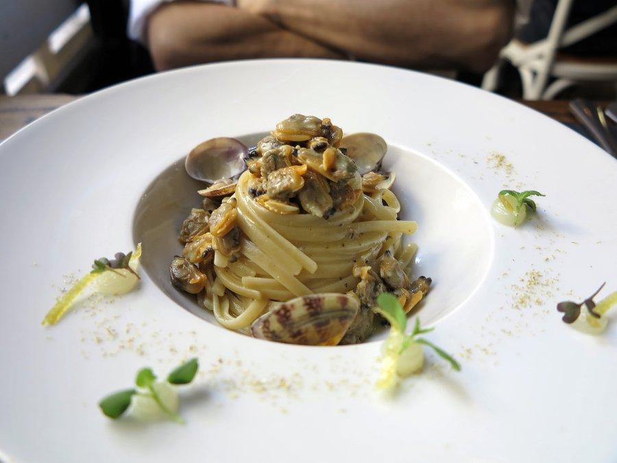 linguine con cedero, Marzapane, Chef Alba esteve Ruiz, Roma