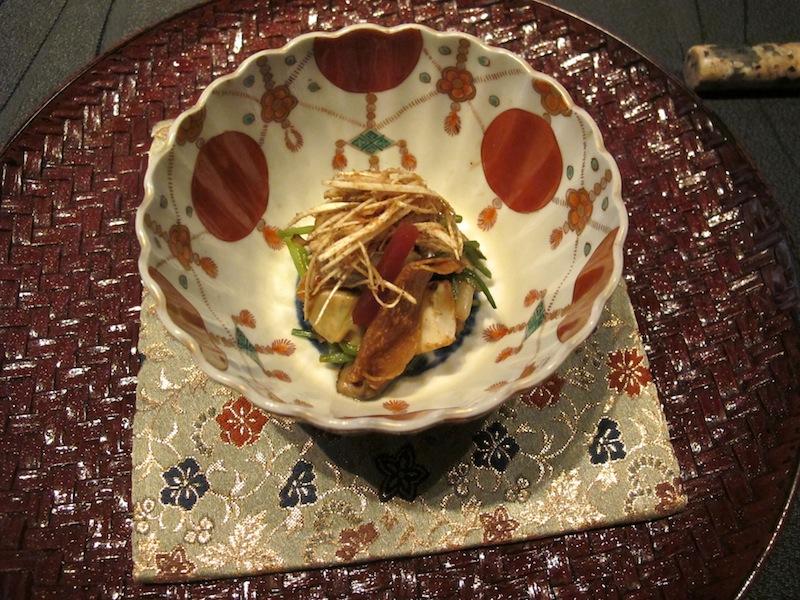 verdure di stagione e funghi shitake, Ryugin, Chef seiji Yamamoto, Tokyo