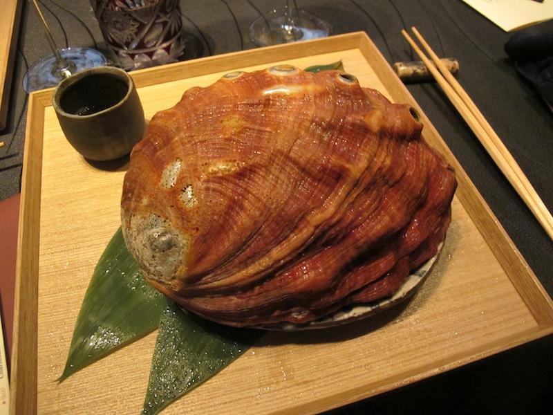 granchio, abalone, gelatina, Ryugin, Chef seiji Yamamoto, Tokyo