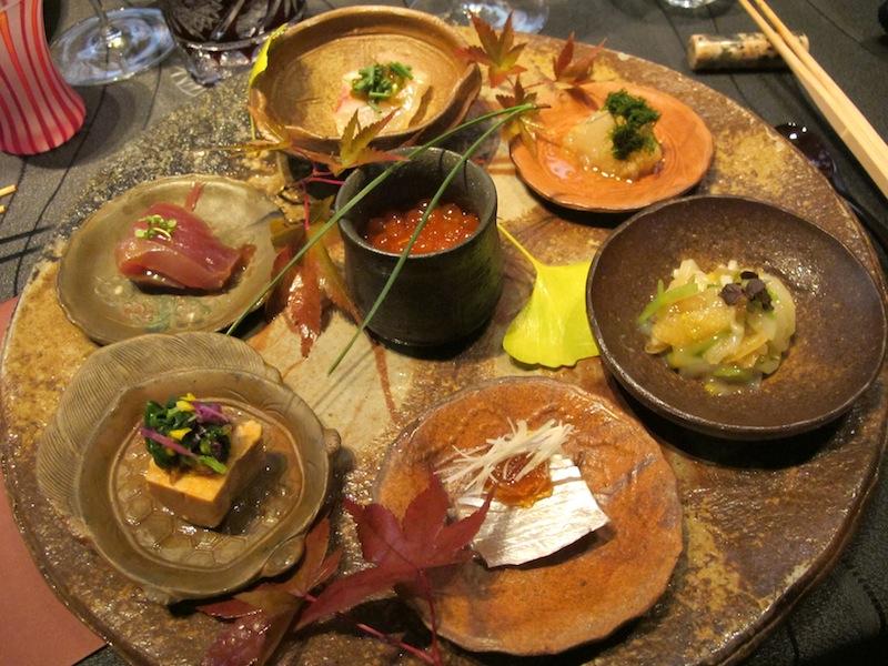 variazione di sushi, Ryugin, Chef seiji Yamamoto, Tokyo