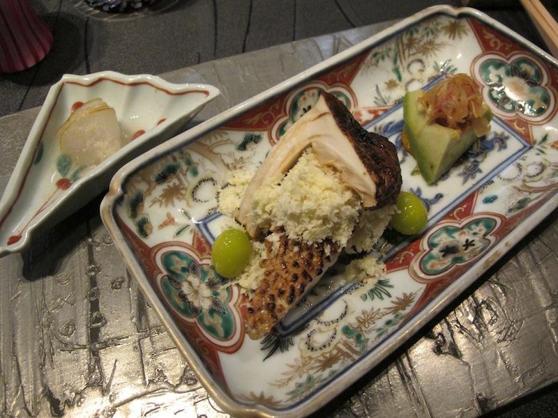 pesce persico con riso tostato, Ryugin, Chef seiji Yamamoto, Tokyo