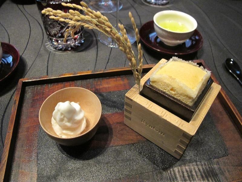 soufflè di sake, Ryugin, Chef seiji Yamamoto, Tokyo