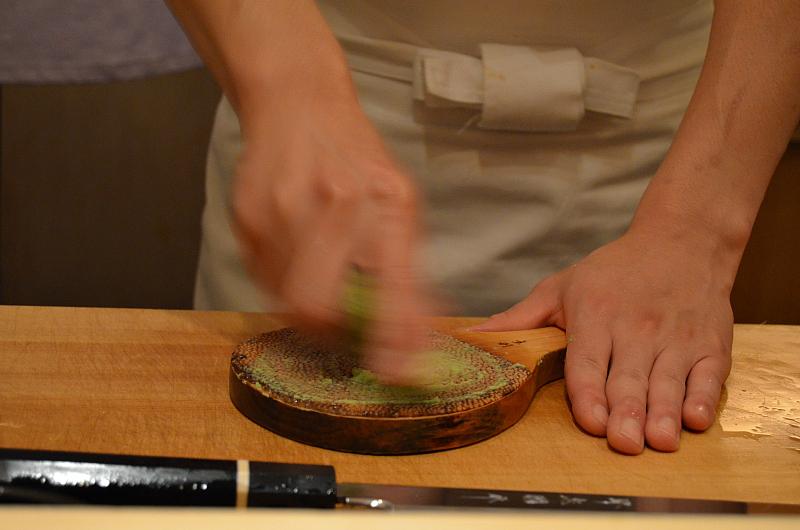 wasabi, Sushi Yoshitake, Matsuhiro Yoshitake, Tokyo, Japan