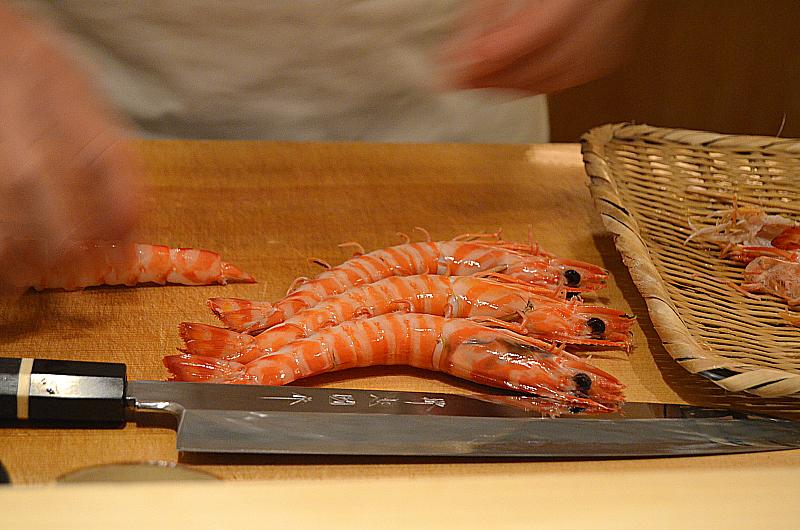 gamberi, Sushi Yoshitake, Matsuhiro Yoshitake, Tokyo, Japan