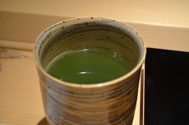 tè matcha, Sushi Yoshitake, Matsuhiro Yoshitake, Tokyo, Japan