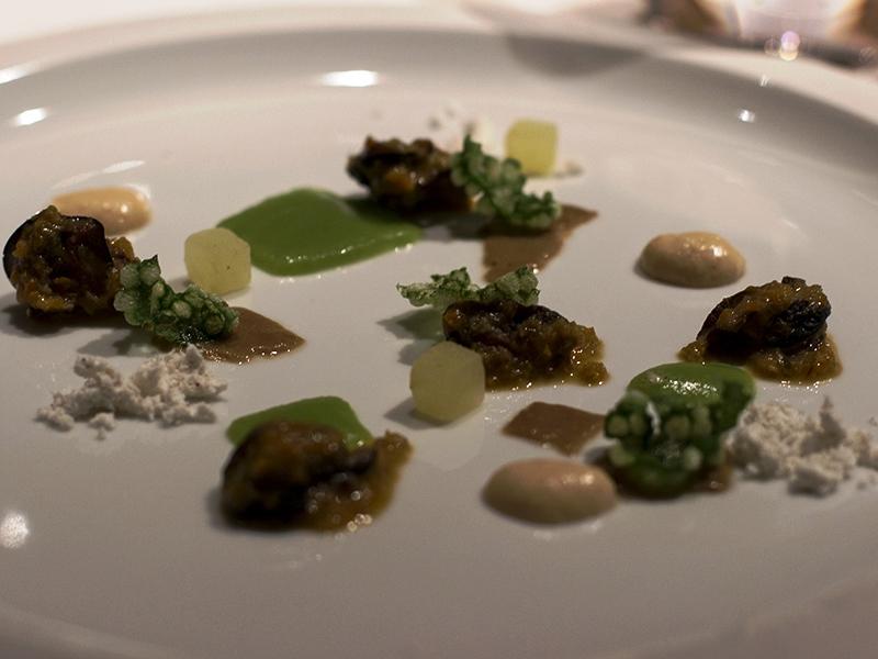 lumache con mela verde e patè, Devero, Chef Enrico Bartolini, Cavenago, Monza, Brianza