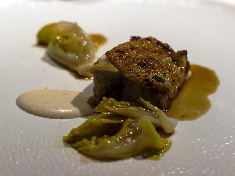 pollo arrosto con salsa allo yuzu, Devero, Chef Enrico Bartolini, Cavenago, Monza, Brianza