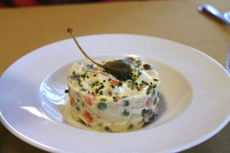 insalata russa, Antica Trattoria del Gallo, Chef Reina, Gaggiano, Milano