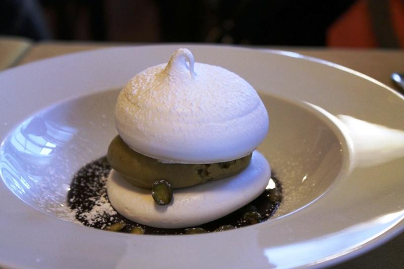meringa con crema, Antica Trattoria del Gallo, Chef Reina, Gaggiano, Milano