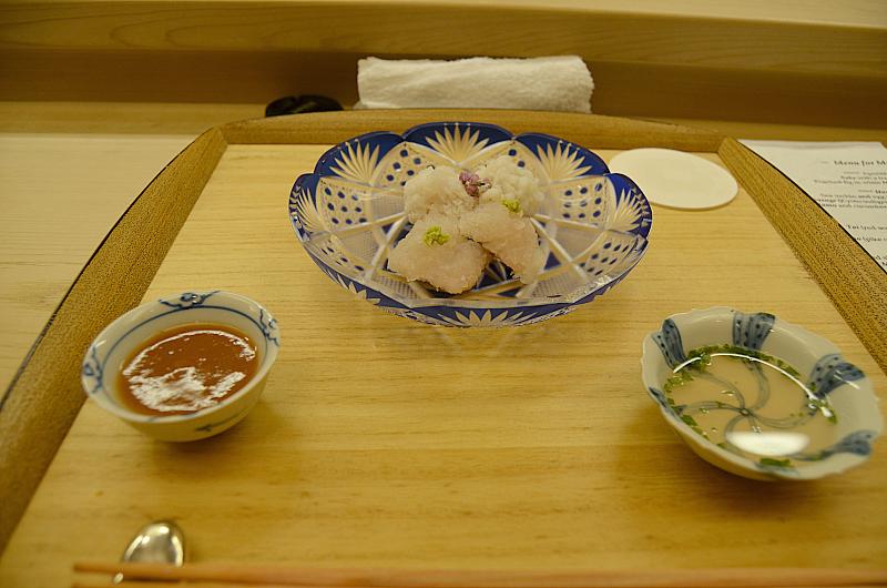 sashimi di pike conger, Kikunoi Roan, chef Hiroki Maruyama, Kyoto, Japan