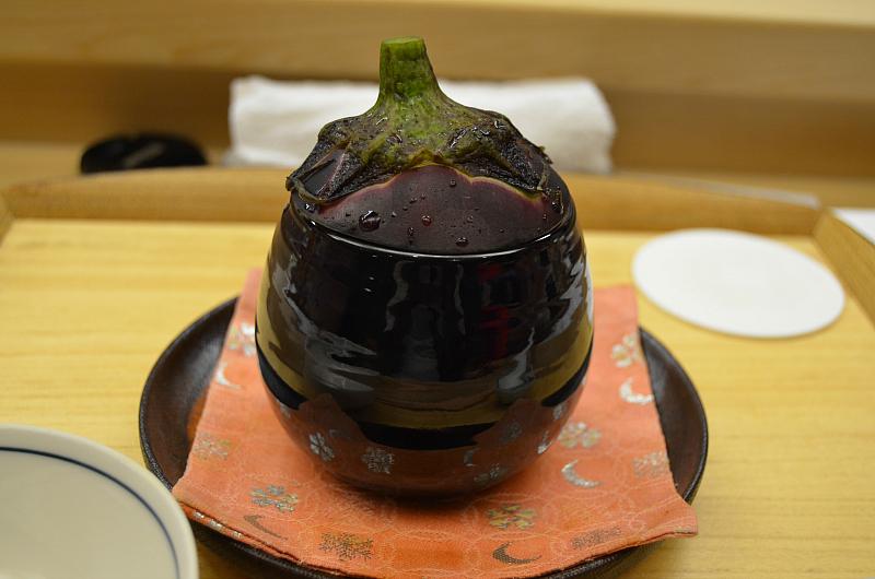 zuppa di melanzana, Kikunoi Roan, chef Hiroki Maruyama, Kyoto, Japan