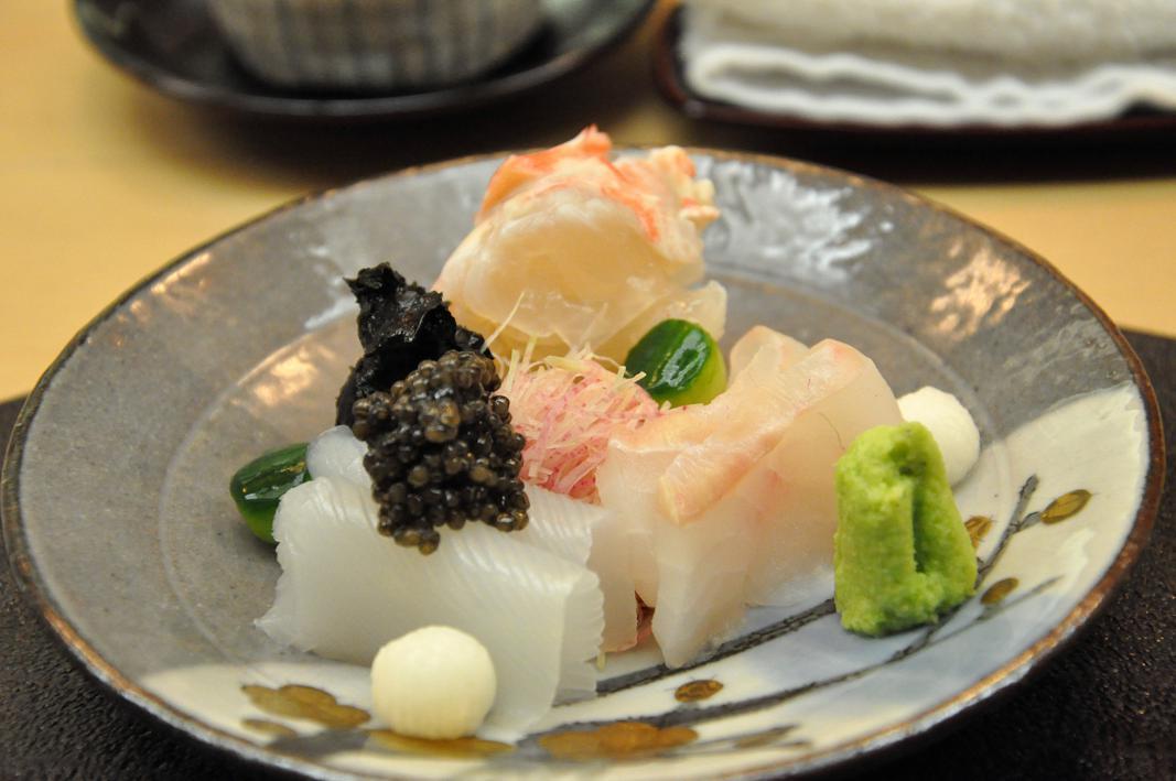 aragosta, rombo, sashimi,Okuda, Chef Shun Miyahara, Parigi