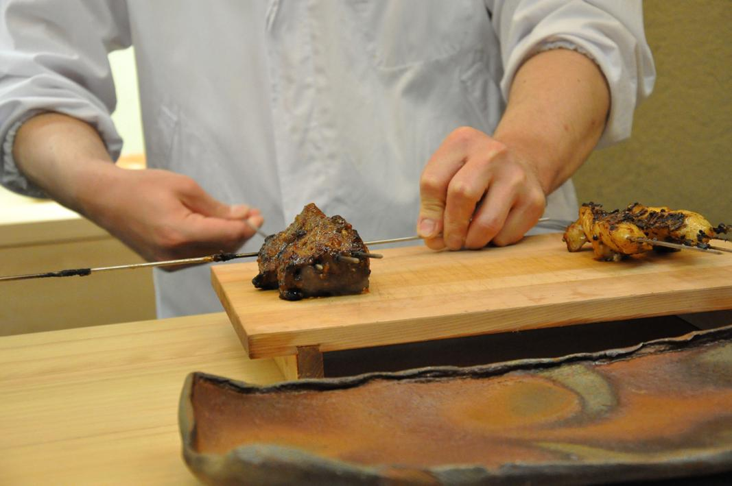 spiedini al bancone, Okuda, Chef Shun Miyahara, Parigi