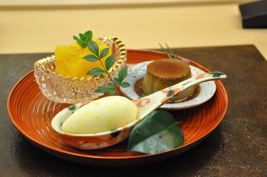 sorbetto allo yuzu, dessert, Okuda, Chef Shun Miyahara, Parigi