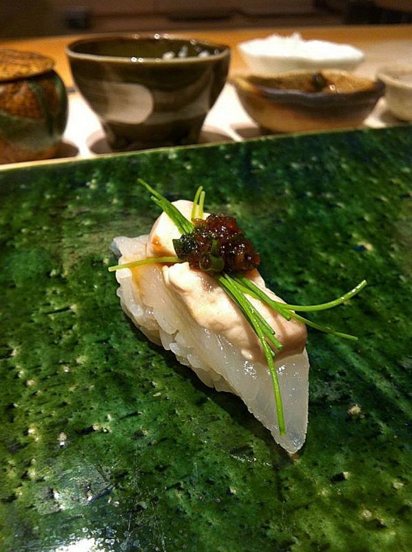 Friday Five, Speciale Giappone, Sushi ibuki, orata con il suo fegato