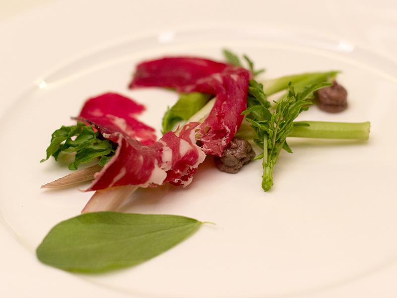 insalata di erbe spontanee, Kitchen, Chef Paolo Lopriore, Como