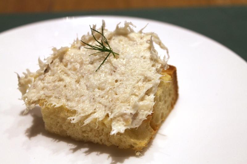 Crostone con Baccalà mantecato, LadyBù, Chef Riccardo Orfino, Milano