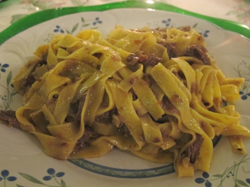 lasagnette con anatra, Locanda delle Grazie, Chef Aldighieri, Curtatone