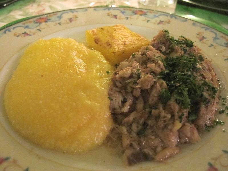 Luccio in salsa verde, Locanda delle Grazie, Chef Aldighieri, Curtatone