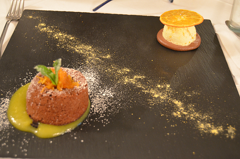 cioccolata e arance, Locanda Severino, Chef Lombardo, Caggiano, Salerno